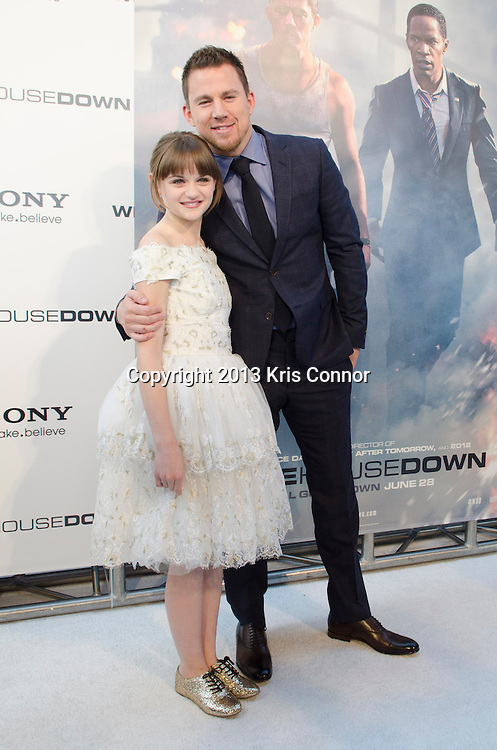 WASHINGTON DC JUNE 21: Joey King and Channing Tatum pose on the red carpet during the DC premiere of White House Down at AMC Georgetown in Washington DC on June 21, 2013.<br /> Photo by Kris Connor/Sony Pictures