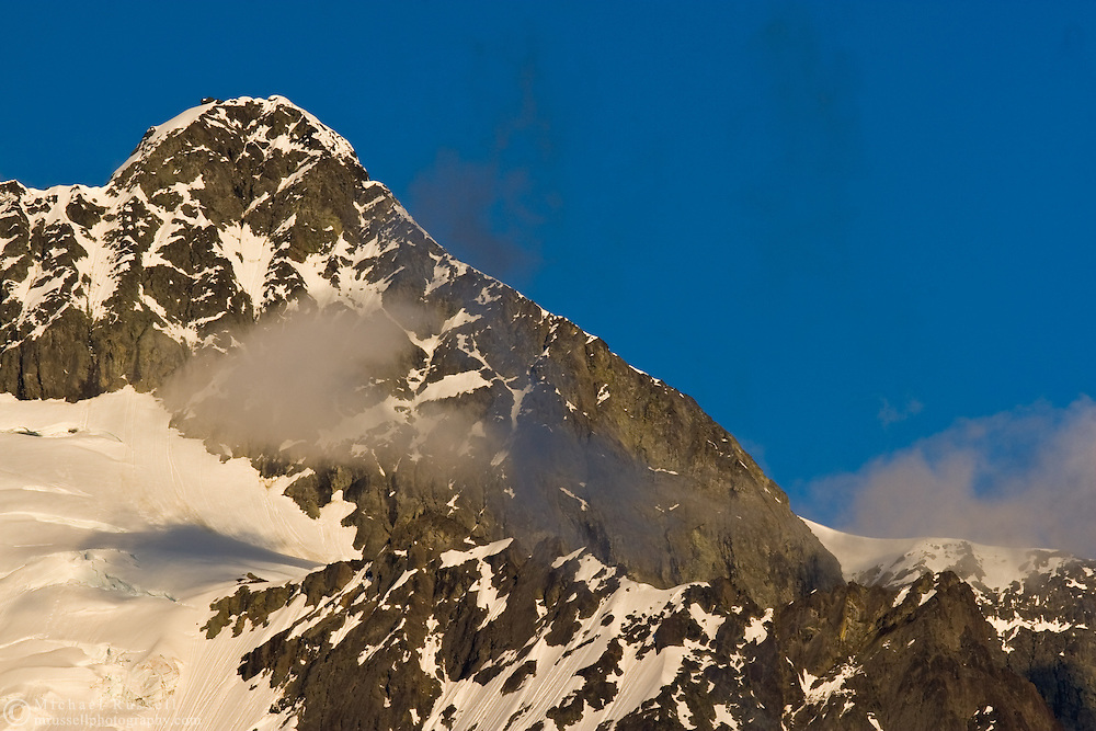 The Summit Pyramid of Mount Shuksan in late evening - Mount Baker-Snoqualmie National Forest, Washington State, USA.