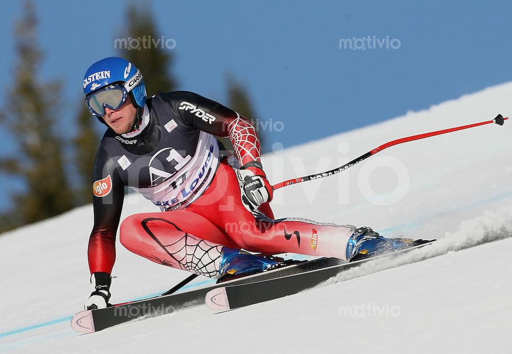 Ski Alpin; Saison 2005/2006 Abfahrt Herren Training Johann Grugger (AUT)
