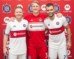 """Bastian Schweinsteiger releases a photo on Instagram with the following caption: """"Happy to be a part of our 2019 @chicagofire jersey launch last night and ready to get the season started!"""". Photo Credit: Instagram *** No USA Distribution *** For Editorial Use Only *** Not to be Published in Books or Photo Books ***  Please note: Fees charged by the agency are for the agency's services only, and do not, nor are they intended to, convey to the user any ownership of Copyright or License in the material. The agency does not claim any ownership including but not limited to Copyright or License in the attached material. By publishing this material you expressly agree to indemnify and to hold the agency and its directors, shareholders and employees harmless from any loss, claims, damages, demands, expenses (including legal fees), or any causes of action or allegation against the agency arising out of or connected in any way with publication of the material."""