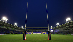 General view inside the Halliwell Jones Stadium before the Betfred Super League match at The Halliwell Jones Stadium, Warrington. PRESS ASSOCIATION Photo. Picture date: Friday March 9, 2018. See PA story RUGBYL Warrington. Photo credit should read: Nigel french/PA Wire. RESTRICTIONS: Editorial use only. No commercial use. No false commercial association. No video emulation. No manipulation of images.