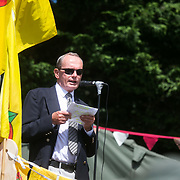 Lancashire community family launch event of the Roling Resistance 30 day campaign. Dr Frank Rugman, retired medical consultant. Co-author of the MedAct report on fracking and health.