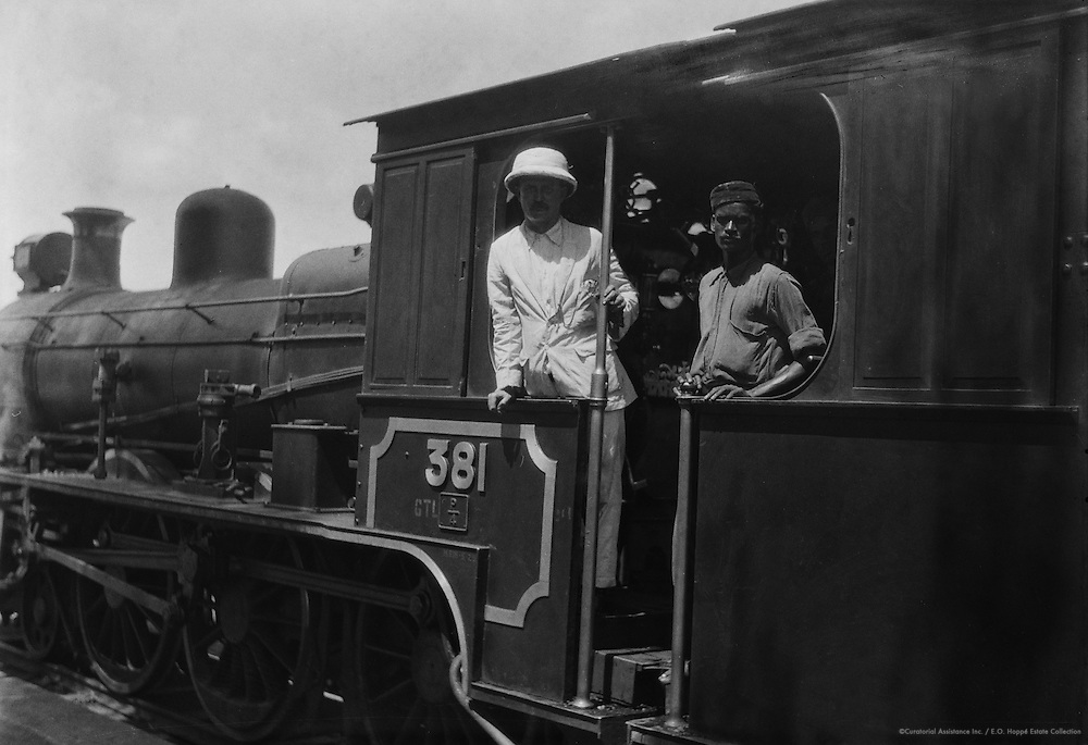 Engine Driver, Hospet Railway Station, India, 1929