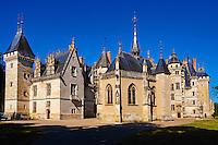 France, Cher (18), Berry, le Chateau de Meillant, route Jacques Coeur // France, Cher (18), Berry, Chateau de Meillant castle,  the Jacques Coeur road