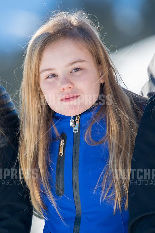 Prinses Ariane tijdens de jaarlijkse Fotosessie in Lech, Oostenrijk.