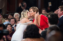 March 4, 2018 - Hollywood, California, U.S. - Allison Janney celebrates winning the Oscar for performance by an actress in a supporting role, for her role in I, Tonya during the live ABC Telecast of The 90th Oscars at the Dolby Theatre in Hollywood. (Credit Image: ? Phil McCarten/AMPAS via ZUMA Wire/ZUMAPRESS.com)
