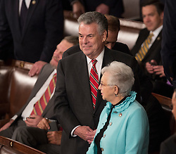 United States Representative Peter King (Republican of New York) awaits the arrival of U.S. President Donald J. Trump to address a joint session of Congress on Capitol Hill in Washington, DC, USA, February 28, 2017. Photo by Chris Kleponis/CNP/ABACAPRESS.COM