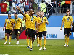 July 14, 2018 - Saint Petersbourg, Russie - SAINT PETERSBURG, RUSSIA - JULY 14 : Vincent Kompany defender of Belgium, Kevin De Bruyne forward of Belgium during the FIFA 2018 World Cup Russia Play-off for third place match between Belgium and England at the Saint Petersburg Stadium on July 14, 2018 in Saint Petersburg, Russia, 14/07/18 (Credit Image: © Panoramic via ZUMA Press)