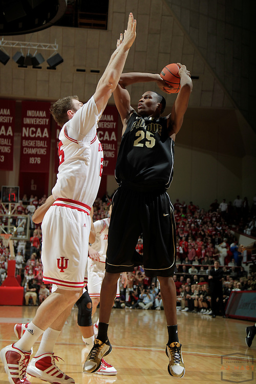 23 February 2011: Purdue Boilermakers forward/center JaJuan Johnson (25) as the Indiana Hoosiers played the Purdue Boilermakers in a college basketball game in Bloomington, Ind.