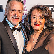 NLD/Hilversum//20170306 - uitreiking Buma Awards 2017, George Baker en partner Blanche
