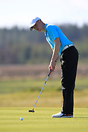 Eoin Sullivan (Carton House) on the 1st green during Round 2 of the Ulster Boys Championship at Donegal Golf Club, Murvagh, Donegal, Co Donegal on Thursday 25th April 2019.<br /> Picture:  Thos Caffrey / www.golffile.ie