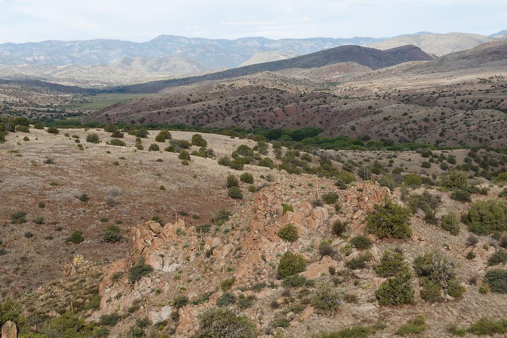 Overlook near Palomas Creek, Ladder Ranch, New Mexico, USA.