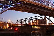 Cleveland, Ohio bridges at night