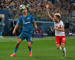 November 5, 2019, Saint-Petersburg, Russia: Russian Federation. Saint-Petersburg. Gazprom Arena. Football. UEFA Champions League. Group G. round 4. Football club Zenit - Football Club RB Leipzig. Player of Zenit football club Alexander Yerokhin (Credit Image: © Russian Look via ZUMA Wire)