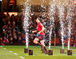 Scarlets' Tadhg Beirne takes to the pitch<br /> <br /> Photographer Simon King/Replay Images<br /> <br /> Guinness PRO14 Round 21 - Dragons v Scarlets - Saturday 28th April 2018 - Principality Stadium - Cardiff<br /> <br /> World Copyright © Replay Images . All rights reserved. info@replayimages.co.uk - http://replayimages.co.uk