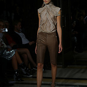 London, England, UK. 17th September 2017. Designer Hallie Sara Showcases lastest collection at FASHION SCOUT SS18 Day 3 at Freemasons Hall.