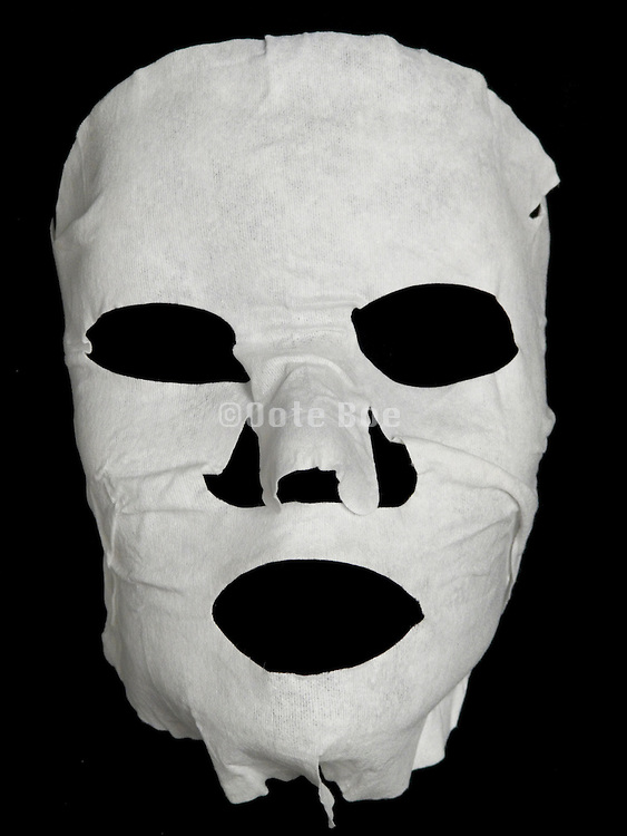a scary looking facial mask