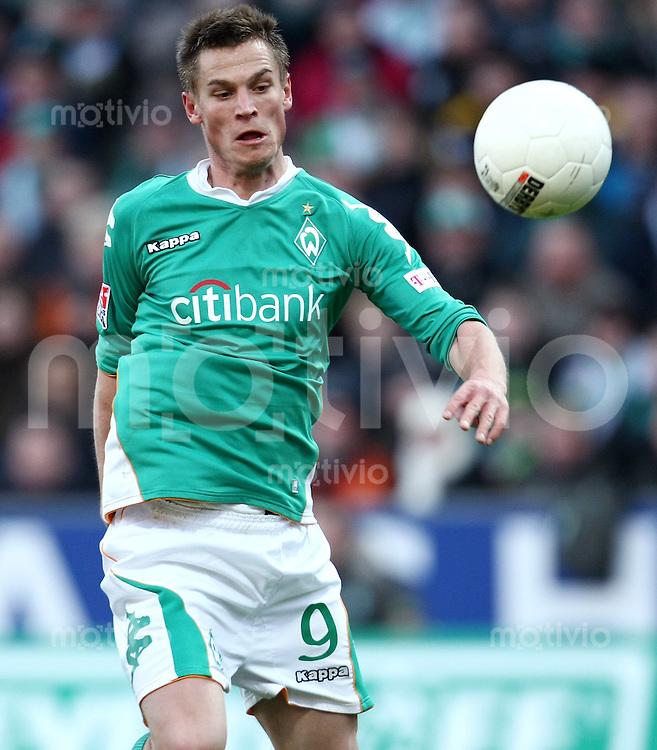 FUSSBALL     1. BUNDESLIGA     SAISON 2007/2008   20. SPIELTAG SV Werder Bremen - 1. FC Nuernberg           16.02.2008 Markus ROSENBERG (SV Werder Bremen), Einzelaktion am Ball