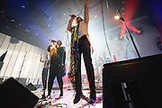 Photos of FM Belfast performing live at Harpa Concert Hall during Iceland Airwaves Music Festival 2014 in Reykjavik, Iceland. November 7, 2014. Copyright © 2014 Matthew Eisman. All Rights Reserved