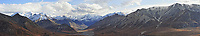 Denali National Park Panorama. Composite of seven images taken with a Nikon D3 camera and 80-400 mm VR lens (ISO 200, 110 mm, f/5.6, 1/800 sec). Raw images processed with Capture One Pro and AutoPano Giga Pro.