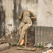 An abandoned Mannequin. Located next to a lake, a visit to one of the main garbage dump in Kolkata. Meeting people who live in the slums that are located around the dump area.