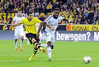 2:0 Tor v.l. Henrikh Mkhitaryan, Johan Djourou (HSV)<br /> Fussball Bundesliga, Borussia Dortmund - Hamburger SV<br /> Norway only