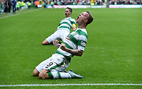 31/10/15 LADBROKES PREMIERSHIP<br /> CELTIC v ABERDEEN<br /> CELTIC PARK - GLASGOW<br /> Celtic's Leigh Griffiths celebrates after opening the scoring