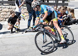 20.04.2018, Innsbruck, AUT, Tour of the Alps, Österreich, 5. Etappe, von Rattenberg nach Innsbruck (164,2 km), im Bild Markus Eibegger (AUT, Team Felbermayr Simplon Wels) // Markus Eibegger of Austria Team Felbermayr Simplon Wels during 5th stage from Rattenberg to Innsbruck of 2018 Tour of the Alps in Innsbruck, Austria on 2018/04/20. EXPA Pictures © 2018, PhotoCredit: EXPA/ Reinhard Eisenbauer