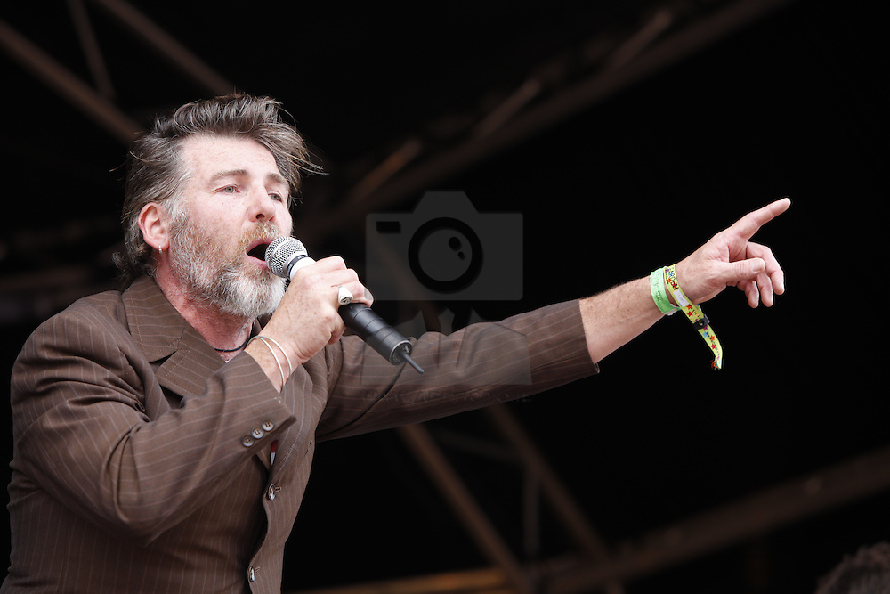 Jerry Fish singing with the RTE Concert Orchestra at the Electric Picnic 2010. Pic Andres Poveda