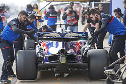 February 19, 2019 - Spain - Alexander Albon (Red Bull Toro Rosso Honda) seen during the winter test days at the Circuit de Catalunya in Montmelo  (Credit Image: © Fernando Pidal/SOPA Images via ZUMA Wire)