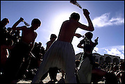 PIC BY HEATHCLIFF O'MALLEY.OFTEN PERSECUTED UNDER THE TALIBAN AND OTHER PREVIOUS REGIMES,ETHNIC HAZARAS IN KABUL CELEBRATE THE TENTH DAY OF THE ISLAMIC FESTIVAL OF MOHARAM IN THE TRADITIONAL SHIA WAY OF FLAGELLATING THEMSELVES TO THE CHANTING OF MULLAHS.