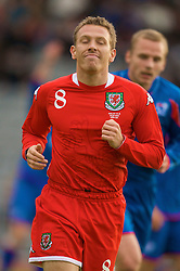 REYKJAVIK, ICELAND - Wednesday, May 28, 2008: Wales' Craig Bellamy in action against Iceland after a three-month injury during the international friendly match at the Laugardalsvollur Stadium. (Photo by David Rawcliffe/Propaganda)