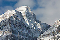 Peaks of the Bow Range in winter, Banff National Park Alberta Canada