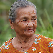 Portrait of a local woman. Java, Indonesia.