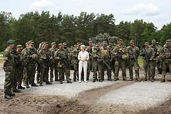 June 10, 2017 - Augustdorf, Germany - German Defence Minister Ursula von der Leyen together with members from the Panzergrenadier squad 212 Augustdorf (Credit Image: © Maik Boenisch/Pacific Press via ZUMA Wire)