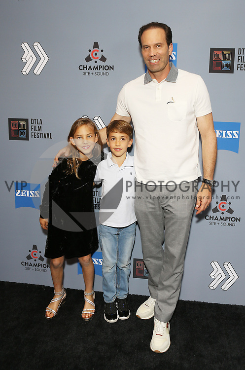"""Michael A. Pierce and family at DTLA Film Festival """"INSIDE GAME"""" Los Angeles Premiere held at Regal LA Live on October 24, 2019 in Los Angeles, California, United States (Photo by © Michael Tran/VipEventPhotography.com"""