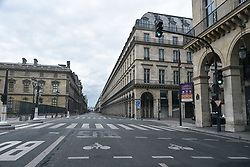 Rue de Rivoli on the 43rd day of lockdown to prevent the spread of Covid-19. Paris, France on April 28, 2020. Photo by Vincent Gramain/ABACAPRESS.COM