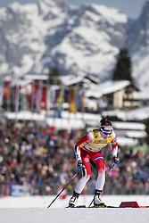 February 21, 2019 - Seefeld In Tirol, AUSTRIA - 190221 Maiken Caspersen Falla of Norway competes in women's cross-country skiing sprint qualification during the FIS Nordic World Ski Championships on February 21, 2019 in Seefeld in Tirol..Photo: Joel Marklund / BILDBYRÃ…N / kod JM / 87879 (Credit Image: © Joel Marklund/Bildbyran via ZUMA Press)