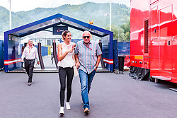 09.07.2017, Red Bull Ring, Spielberg, AUT, FIA, Formel 1, Grosser Preis von Österreich, Rennen, im Bild CEO and Founder of Red Bull Dietrich Mateschitz (AUT) mit Freundin Marion Feichtner // CEO and Founder of Red Bull Dietrich Mateschitz (AUT) with girlfrind Marion Feichtner during the Race of the Austrian FIA Formula One Grand Prix at the Red Bull Ring in Spielberg, Austria on 2017/07/09. EXPA Pictures © 2017, PhotoCredit: EXPA/ JFK