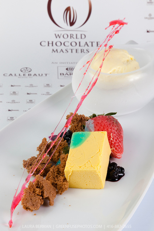 Dimuthu Perera's Plated Chocolate Dessert. World Chocolate Masters Canadian Selection, January 20, 2013.