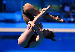 England's Alicia Blagg and Katherine Torrance in action during the Women's Synchronised 3m Springboard Final at the Optus Aquatic Centre during day seven of the 2018 Commonwealth Games in the Gold Coast, Australia.