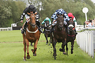 The race to the finishing post during Uttoxeter Races at Uttoxeter Racecourse, Uttoxeter, United Kingdom on 30 July 2017. Photo by John Potts.