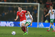 Andrew Crofts of Wales in action. Wales v Northern Ireland, International football friendly match at the Cardiff City Stadium in Cardiff, South Wales on Thursday 24th March 2016. The teams are preparing for this summer's Euro 2016 tournament.     pic by  Andrew Orchard, Andrew Orchard sports photography.