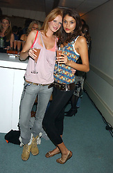 Left to right, models OLIVIA INGE and JAMIE GUNNS at Reach 4 Fashion 2005 in aid of the REACH Leukaemia Appeal hosted by designers Sadie Frost and Jemima French of fashion label FrostFrench held at 88 St.James' Street, London SW1 on 8th November 2005.<br /><br />NON EXCLUSIVE - WORLD RIGHTS