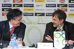 Sinisa Mitrovic and Dane Jost at Management conference of Slovenian Football Federation, on March 10, 2009, in Hotel Kokra, Brdo pri Kranju, Slovenia. (Photo by Vid Ponikvar / Sportida)