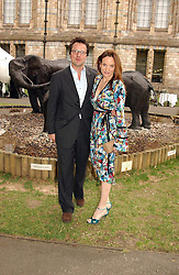 EMILY OPPENHEIMER and her husband WILLIAM TURNER at a summer party held at The Natural History Museum entitled 'Evolution'  on 29tth June 2004.