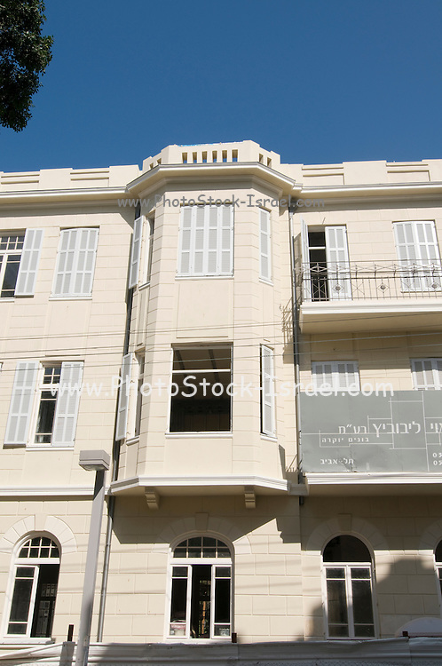 Israel, Tel Aviv, Old eclectic style building being renovated at 23 Nachmani Street