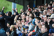 Wimbledon fans in good spirits during the EFL Sky Bet League 1 match between AFC Wimbledon and Wycombe Wanderers at the Cherry Red Records Stadium, Kingston, England on 27 April 2019.