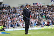 Brighton Manager, Chris Hughton during the EFL Sky Bet Championship match between Brighton and Hove Albion and Wigan Athletic at the American Express Community Stadium, Brighton and Hove, England on 17 April 2017.