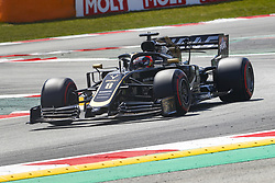 May 11, 2019 - Barcelona, Catalonia, Spain - Haas Ferrari driver Romain Grosjean (8) of France during F1 Grand Prix qualifying celebrated at Circuit of Barcelona 11th May 2019 in Barcelona, Spain. (Credit Image: © Mikel Trigueros/NurPhoto via ZUMA Press)